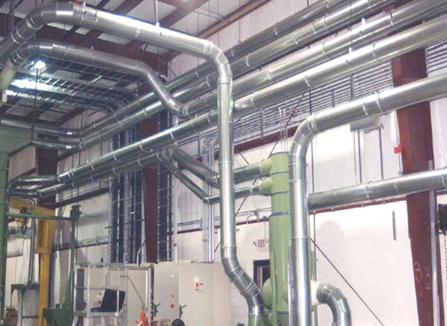 recyling center ductwork